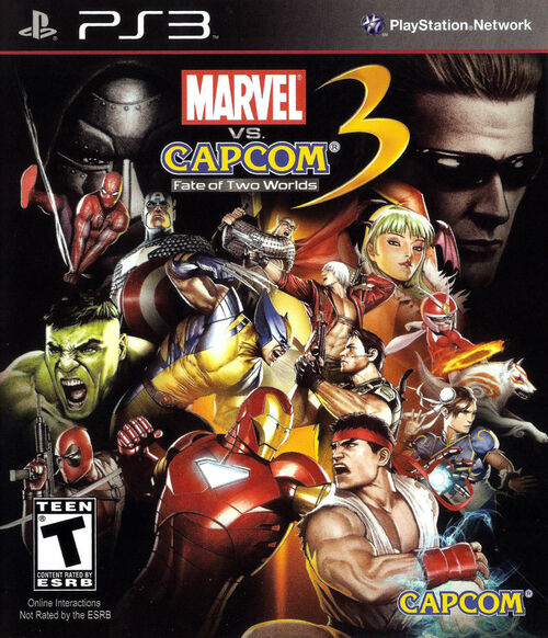 Cover for Marvel vs. Capcom 3: Fate of Two Worlds.
