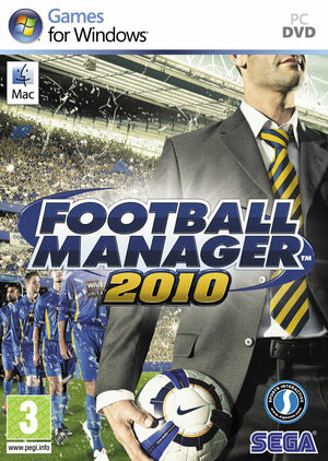 Cover for Football Manager 2010.