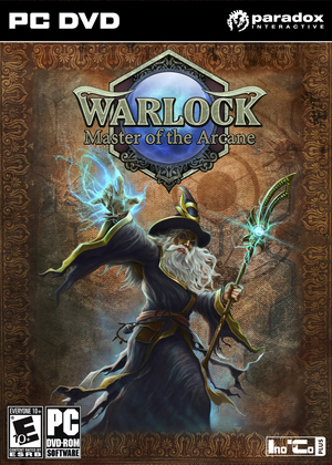 Cover for Warlock: Master of the Arcane.