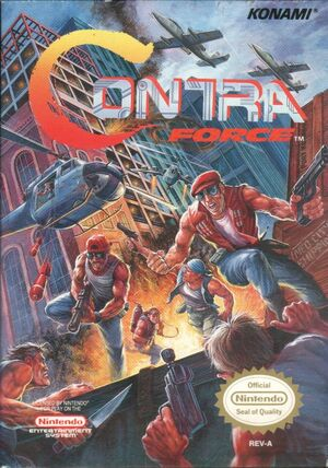Cover for Contra Force.
