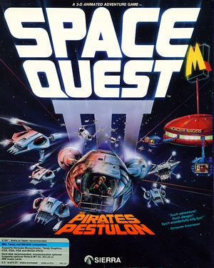 Cover for Space Quest III: The Pirates of Pestulon.