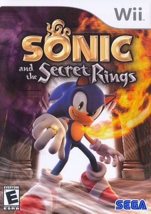 Cover for Sonic and the Secret Rings.