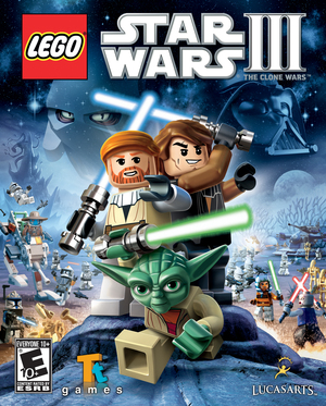 Cover for Lego Star Wars III: The Clone Wars.