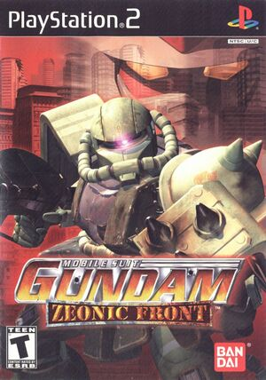 Cover for Mobile Suit Gundam: Zeonic Front.