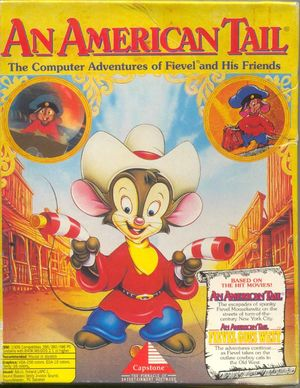Cover for An American Tail: The Computer Adventures of Fievel and His Friends.