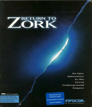 Cover for Return to Zork.