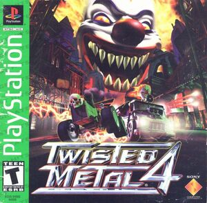 Cover for Twisted Metal 4.