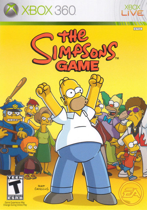 Cover for The Simpsons Game.