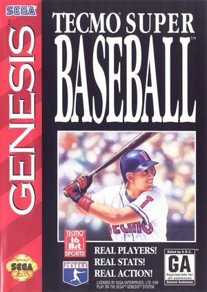 Cover for Tecmo Super Baseball.
