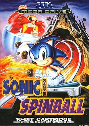 Cover for Sonic the Hedgehog Spinball.