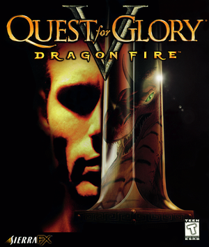 Cover for Quest for Glory V: Dragon Fire.
