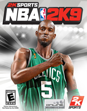 Cover for NBA 2K9.