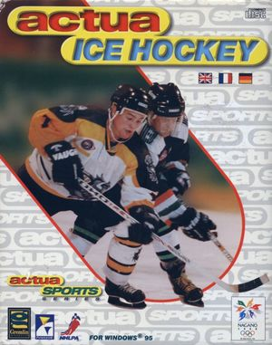 Cover for Actua Ice Hockey.
