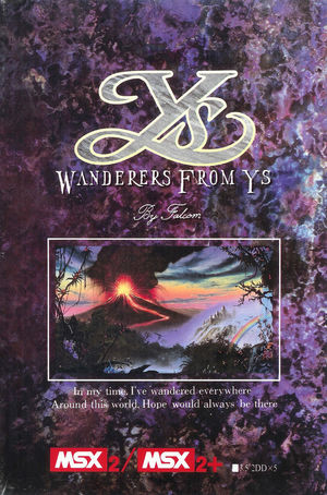 Cover for Ys III: Wanderers from Ys.