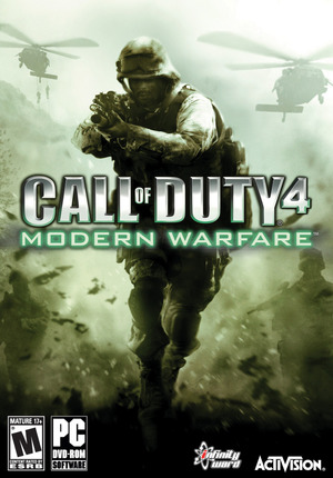 Cover for Call of Duty 4: Modern Warfare.