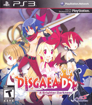Cover for Disgaea D2: A Brighter Darkness.