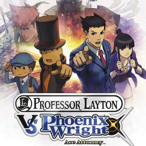 Cover for Professor Layton vs. Phoenix Wright: Ace Attorney.