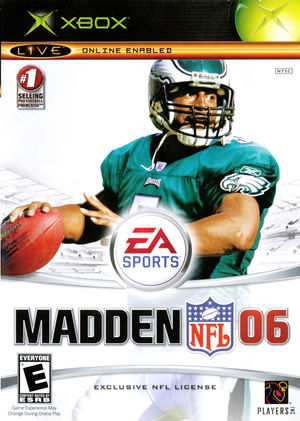 Cover for Madden NFL 06.