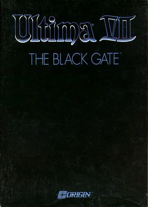 Cover for Ultima VII: The Black Gate.