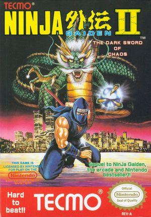 Cover for Ninja Gaiden II: The Dark Sword of Chaos.