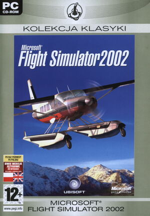 Cover for Microsoft Flight Simulator 2002.