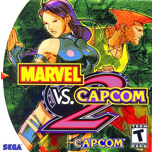 Cover for Marvel vs. Capcom 2: New Age of Heroes.