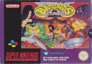 Cover for Battletoads in Battlemaniacs.