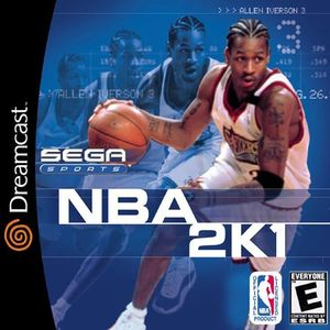 Cover for NBA 2K1.
