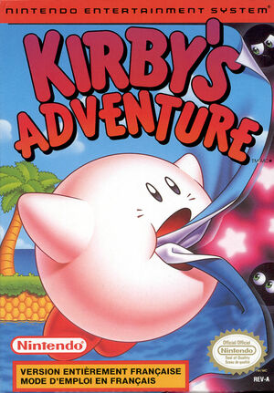 Cover for Kirby's Adventure.