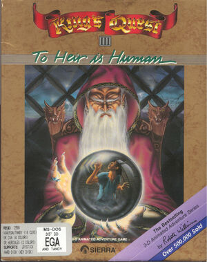 Cover for King's Quest III: To Heir Is Human.