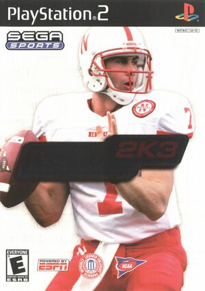 Cover for NCAA College Football 2K3.