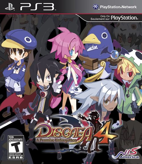 Cover for Disgaea 4: A Promise Unforgotten.