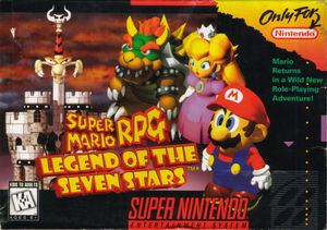 Cover for Super Mario RPG: Legend of the Seven Stars.
