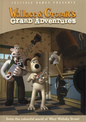 Cover for Wallace & Gromit's Grand Adventures.