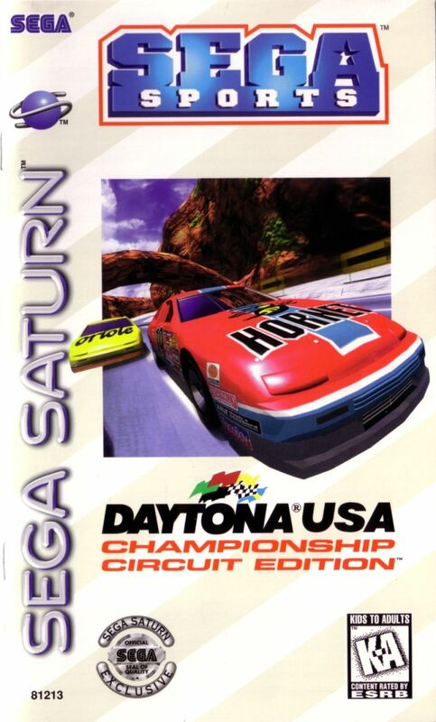 Cover for Daytona USA: Championship Circuit Edition.