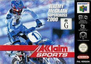 Cover for Jeremy McGrath Supercross 2000.