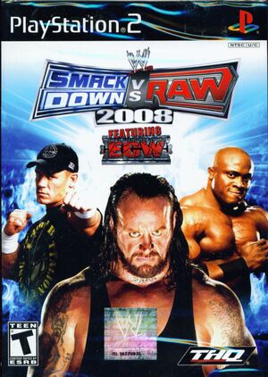 Cover for WWE SmackDown vs. Raw 2008.