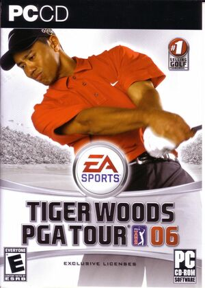 Cover for Tiger Woods PGA Tour 06.