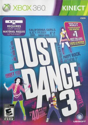 Cover for Just Dance 3.