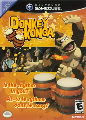 Cover for Donkey Konga.