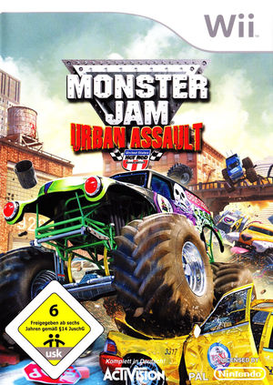 Cover for Monster Jam: Urban Assault.