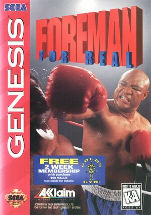 Cover for Foreman For Real.