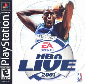 Cover for NBA Live 2001.