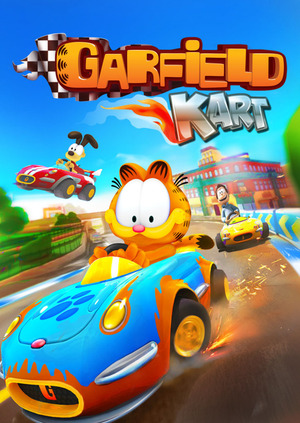 Cover for Garfield Kart.