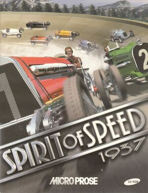 Cover for Spirit of Speed 1937.