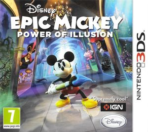 Cover for Epic Mickey: Power of Illusion.