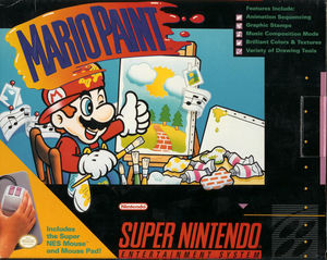 Cover for Mario Paint.