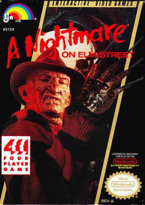 Cover for A Nightmare on Elm Street.