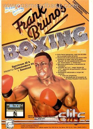 Cover for Frank Bruno's Boxing.