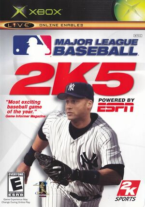 Cover for Major League Baseball 2K5.